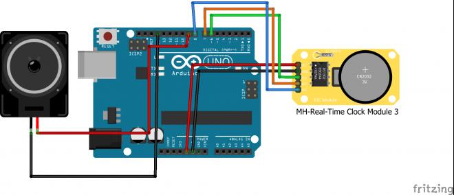 Alarm Arduino Menggunakan RTC DS1302 dan Speaker
