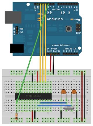Cara Memasukan / Mengisi Bootloader Ke IC Chip ATmega328/168/8 Menggunakan Arduino Uno