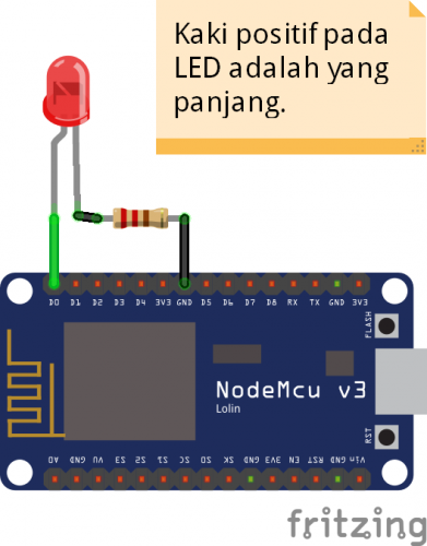 Program NodeMCU ESP8266 – Blink