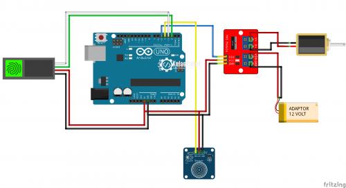 Tutorial Fingerprint Doorlock Arduino – Membuka Kunci Pintu Dengan Sidik Jari