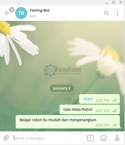 NodeMCU ESP8266 Terima Pesan Dari Telegram